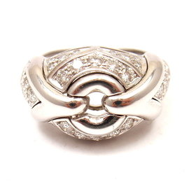 Bulgari Bvlgari 18K White Gold 0.60ctw Diamond Ring Size 5.5