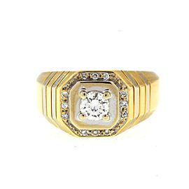 14K Yellow Gold & 0.35ct. Diamond Ring Size 9.5
