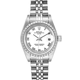 Rolex Date White Dial Jubilee Bracelet Ladies Watch