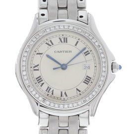 Cartier Panthere 987904 Stainless Steel with Off-White Dial 33mm Mens Watch
