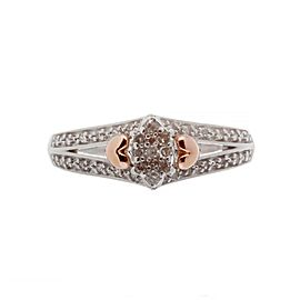 925 Sterling Silver & 0.35ct. Diamond Ring Size 6.75