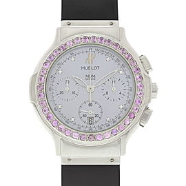 Hublot MDM Classic 1640.1 Chronograph Stainless Steel / Rubber 37mm Womens Watch