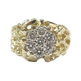 14K Yellow Gold 1.00ct Diamond Ring Size 10.5