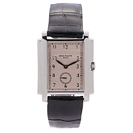 Patek Philippe Gondolo 5024 18K White Gold 30mm Mens Watch