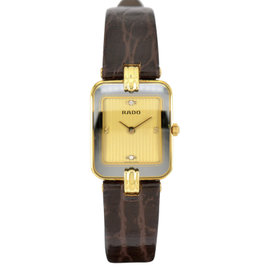 Rado 153.8125.6 18K Yellow Gold / Leather 19mm Womens Watch