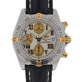 Breitling Chrono Cockpit B13358 Stainless Steel/Yellow Gold & Leather Strap Automatic 39mm Mens Watch