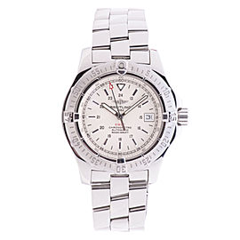Breitling Colt A17380 Stainless Steel Off White Dial 41mm Mens Watch
