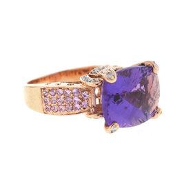 Rose Gold Amethyst, Diamond Mens Ring