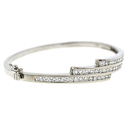 White Gold Diamond Mens Bracelet