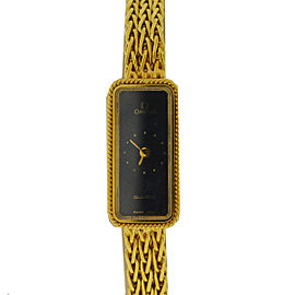 Omega Constellation 18K Yellow Gold Quartz Vintage 13mm Womens Watch