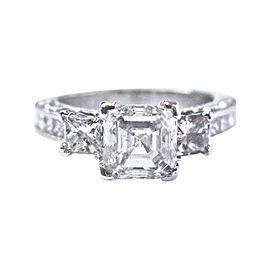 Tacori 950 Platinum & Three Stone Diamond Engagement Ring Size 5