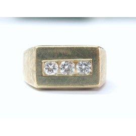 Yellow Gold Diamond Womens Ring Size 11