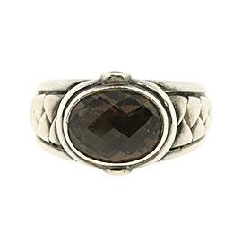 Scott Kay 925 Sterling Silver & Smokey Quartz Ring Size 9