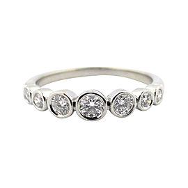 Tiffany & Co. Platinum Jazz Graduated 0.31ct Diamond Ring Size 6