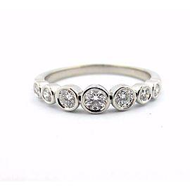 Tiffany & Co. Platinum Jazz Graduated 0.31ct Diamond Ring Size 5