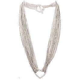 Tiffany & Co. 925 Sterling Silver Choker Heart Necklace