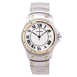 Cartier Ronde Santos 1910 Stainless Steel / 18K Yellow Gold 33mm Mens Watch