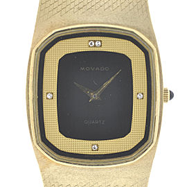 Movado 14K Yellow Gold Quartz 30mm Unisex Vintage Watch