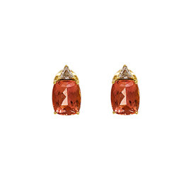 H. Stern 18K Yellow Gold with 2.5ct. Imperial Topaz & 0.50ct. Diamond Earrings