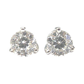 Roberto Coin 18K White Gold & 2.08ct Diamond Stud Earrings