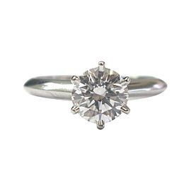 Tiffany & Co. 950 Platinum 1.09ct Diamond Engagement Ring Size 4.75