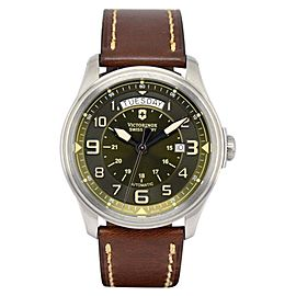Victorinox Swiss Army Infantry 241396 Stainless Steel / Leather Automatic 45mm Mens Watch