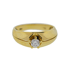 18K Yellow Gold 0.10cts Diamond Engagement Ring Size 5.75