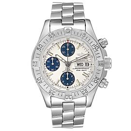 Breitling Aeromarine Superocean Silver Dial Mens Watch A13340 Box Papers
