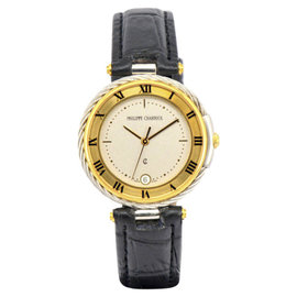 Philippe Charriol Celtic Stainless Steel & Gold Plated Quartz 32.2mm Mens Watch