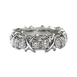 Tiffany & Co. Jean Schlumberger Platinum Diamond Ring Size 6.5