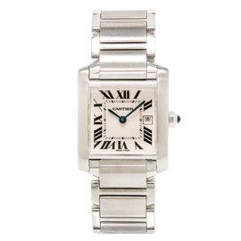 Cartier Tank Francaise 2465 Quartz Stainless Steel 25 mm Womens Watch