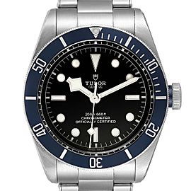 Tudor Heritage Black Bay Blue Bezel Steel Watch