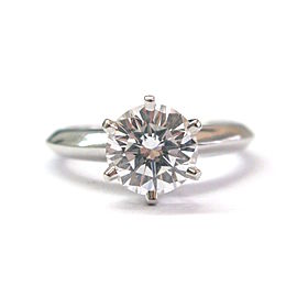 Tiffany & Co. Platinum with 1.26ct Diamond Solitaire Ring Size 3.75