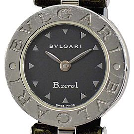 Bulgari B.Zero1 BZ 22 Stainless Steel Quartz Leather Band 22mm Womens Watch