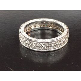 14K White Gold Diamond Ring Size 4.25