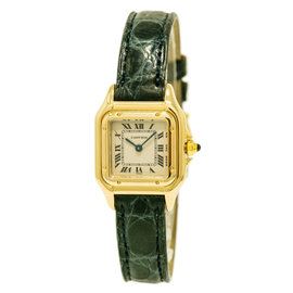Cartier Panthere 1070 18K Yellow Gold / Leather 22mm Womens Watch