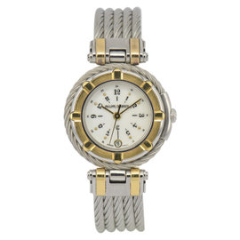 Philippe Charriol Cable Celtic 18K Yellow Gold / Stainless Steel Quartz 26.5mm Womens Watch