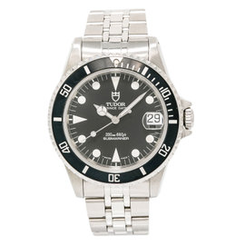 Tudor Prince Date Submariner 75190 Stainless Steel Black Dial Automatic 36mm Mens Watch