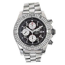 Breitling Super Avenger A13370 Stainless Steel 48.4mm Mens Watch