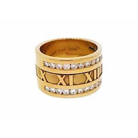 Tiffany & Co. Atlas 18K Yellow Gold Diamond Band Ring Size 6.75