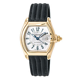 Cartier Roadster 2524 18K Yellow Gold & Canvas Automatic 28mm Mens Watch