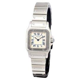 Cartier Santos 1565 Stainless Steel Quartz 24mm Womens Watch