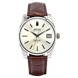 Seiko Grand Seiko 43999 Stainless Steel & Leather Hand-Winding Vintage 36.5mm Mens Watch