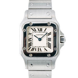 Cartier Santos Galbee 1565 Stainless Steel Quartz 24mm Womens Watch