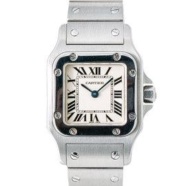 Cartier Santos Galbee 1565 Stainless Steel Quartz 24mm Womens Watch