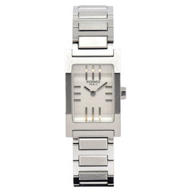 Hermes Tandem TA1.210 Stainless Steel Silver Dial Quartz 17mm Women's Watch