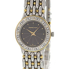 Audemars Piguet 18K Yellow Gold and Stainless Steel with Diamond Quartz 21mm Vintage Womens Watch