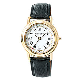 Tiffany & Co. M193 Alarm 18K Yellow Gold Quartz 34mm Mens Watch