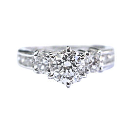 14K White Gold with 1.21ct. Diamond Engagement Ring Size 4