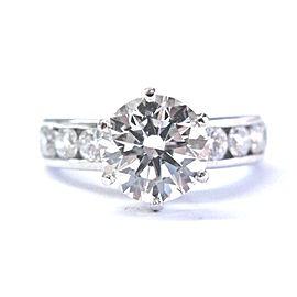 Tiffany & Co. Platinum 2.80ct Diamond Channel Set Engagement Ring Size 5